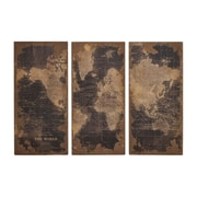 Woodland Imports Assorted Map 3 Piece Graphic Art Set