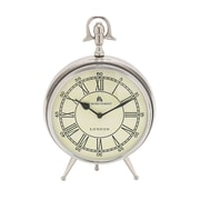 Woodland Imports 10'' Bond Street Table Clock; Silver