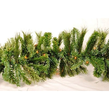 Queens of Christmas Blended Pine Garland; Red