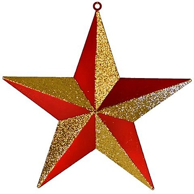 Queens of Christmas Star Ornament; Red and Gold
