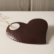 Native Trails Heart Ornament; 4'' H x 4'' W x 0.1'' D