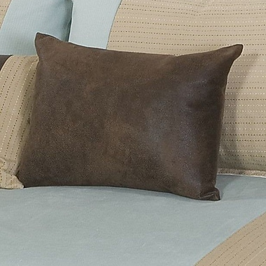 Charister Colby Cotton Boudoir/Breakfast Pillow; Robin's Egg Blue