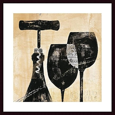Printfinders 'Wine Selection II' by Daphne Brissonnet Framed Graphic Art