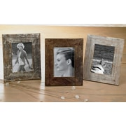 St. Croix Kindwer 3 Piece Distressed Wood Picture Frame Set