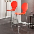Holly & Martin 29.25'' Bar Stool (Set of 2); Red/Orange