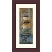 Printfinders 'Antique Coffee Cups I' by Silvia Vassileva Framed Graphic Art