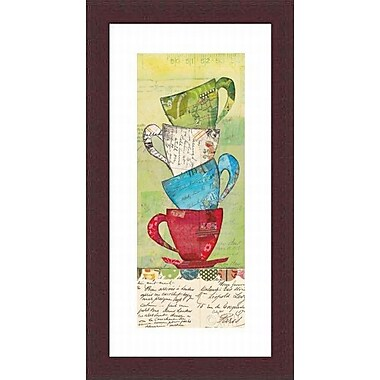Printfinders 'Come for Tea' by Courtney Prahl Framed Graphic Art