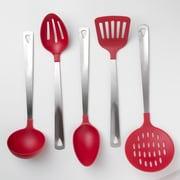 Prime Pacific Cook's Corner 5 Piece Kitchen Utensil Set; Red