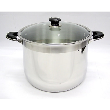 Prime Pacific Mega Cook Stock Pot w/ Lid; 16-qt.