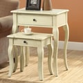 Monarch Specialties Inc. 2 Piece Nesting Tables; Antique White