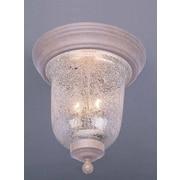 Volume Lighting Rhodes 2 Light Ceiling Fixture Flush Mount; Prairie Rock