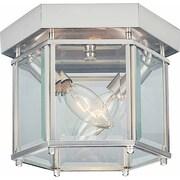 Volume Lighting 2 Light Ceiling Fixture Flush Mount; Brushed Nickel