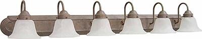 Volume Lighting Marti 6-Light Vanity Light; Prairie Rock WYF078276775156