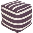 Surya Sophisticated Pouf Ottoman; Prune Purple