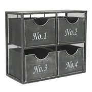 Three Hands Mesmerizing 4 Drawers Wall Storage