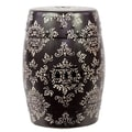 Woodland Imports Ceramic Garden Stool; Black