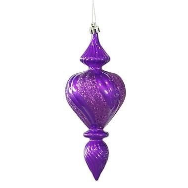Vickerman Candy Finish Finial Christmas Ornament (Set of 3); Purple