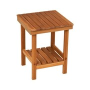 Teakworks4u Mini Rigid Teak Leg Bench; Plantation Teak
