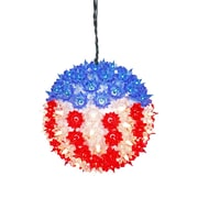 Vickerman US Flag 100 Light Starlight Sphere Light