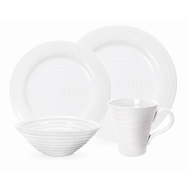 Portmeirion Sophie Conran White 4 Piece Place Setting