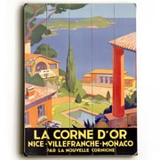 Artehouse LLC La Corne D'Or Planked Vintage Advertisement Plaque