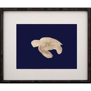 Mirror Image Home Gold Leaf Turtle - Left Facing on Paper Framed Graphic Art