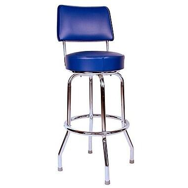 Richardson Seating Retro Home 30'' Swivel Bar Stool with Cushion; Blue