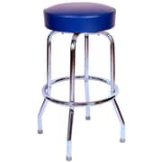 Richardson Seating Retro Home 24'' Swivel Bar Stool with Cushion; Blue