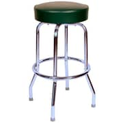 Richardson Seating Retro Home 30'' Swivel Bar Stool with Cushion; Green