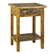 Antique Revival Rustic Valley End Table
