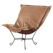Howard Elliott Puff Scroll Avanti Lounge Chair; Bronze