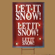 Roman, Inc. Lighted Let It Snow Sign Stake Christmas Decoration