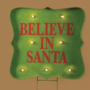 Roman, Inc. Lighted Believe Sign Stake Yard Christmas Decoration