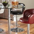 Standard Furniture Cosmo 25'' Adjustable Bar Stool ; Black