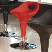 Standard Furniture Cirque Adjustable Height Bar Stool; Red