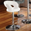 Standard Furniture Cosmo 25'' Adjustable Bar Stool ; White