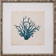 Mirror Image Home Mini Turquoise Coral VII Framed Graphic Art