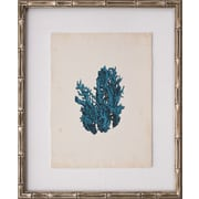 Mirror Image Home Mini Turquoise Coral V Framed Graphic Art