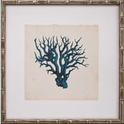 Mirror Image Home Mini Turquoise Coral VI Framed Graphic Art