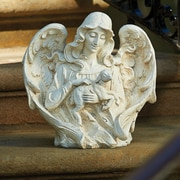 Roman, Inc. Angel w/ Lamb Garden Statue