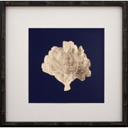Mirror Image Home Gold Leaf Coral III Framed Graphic Art