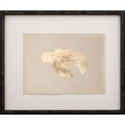 Mirror Image Home Gold Leaf Turtle - Left Facing on Paper Framed Graphic Art; Gold Leaf/Espresso