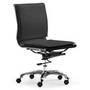 dCOR design Lider Plus Low Back Armless Office Chair; Black