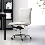 dCOR design Lider Plus Low Back Armless Office Chair; White