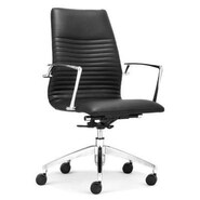 dCOR design Lion Low Back Office Chair; Black