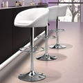 dCOR design Orchestra 24.8'' Adjustable Bar Stool; White