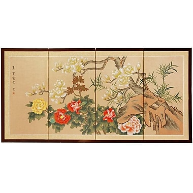 Oriental Furniture 24'' x 48'' Harmony 4 Panel Room Divider