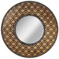 CBK Geometric and Burlap Wall Mirror