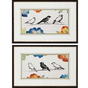 Paragon Songbirds by Loreth 2 Piece Framed Painting Print Shadow Box Set (Set of 2)
