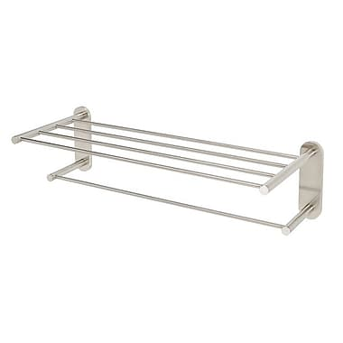 Alno Contemporary I Wall Mounted Towel Rack; Satin Nickel